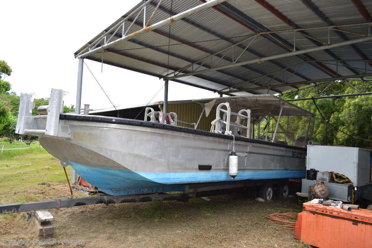 Used Custom High Speed Barge Commercial Work Boat For