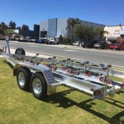Boat Trailer Single Or Dual Axle Goodman Package Heat Pump Wiring Diagram Tandem Aluminium With Wobble Roller Set