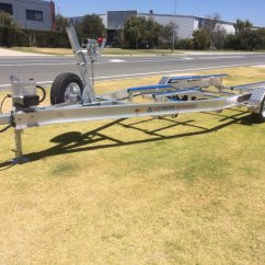 Boat Trailer Single Or Dual Axle How To Wire A Switch Diagram Used Tandem Aluminium With Basic Skid