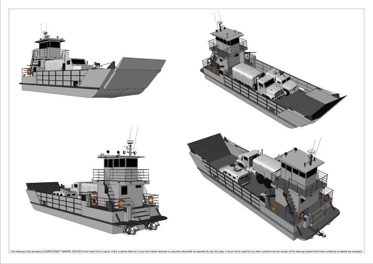 New Sabrecraft Marine Landing Craft 18 Meter Work Boat