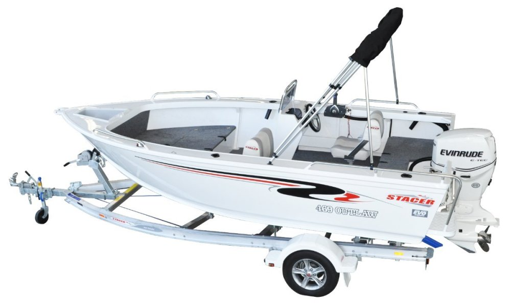medium resolution of stacer 469 outlaw side console yamaha f50 50hp four stroke outboard motor
