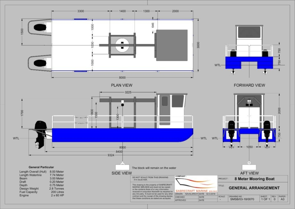 medium resolution of new sabrecraft marine work boat 8000 cat work boat barge with moonpool