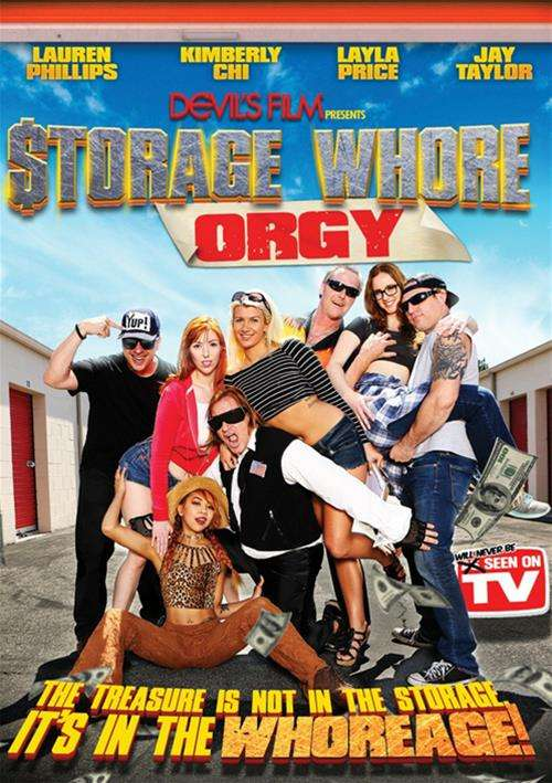 Storage Whore Orgy, 2016 Porn DVD, Devil's Film, Kimberly Chi, Layla Price, Jay Taylor, Lauren Phillips, Feature, Orgies, Parody, Spoof, The treasure, semen, whoreage