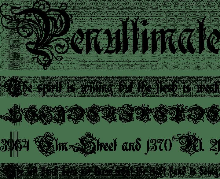 Rothenburg Decorative Font Phrases