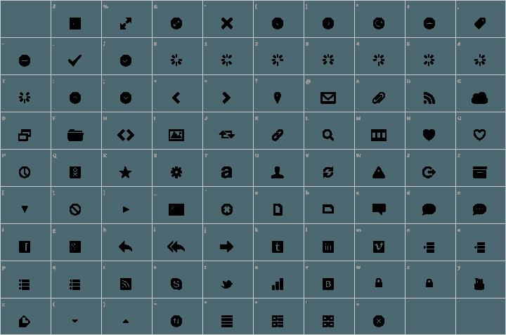 web symbols font free