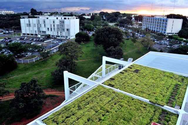 Fórum verde no Distrito Federal é um modelo de projetos em construção civil com foco na sustentabilidade (Antônio Cunha/CB/D.A Press)