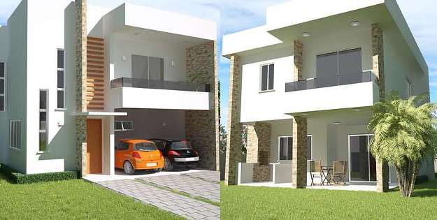 Plano de sobrado com três quartos e varanda gourmet à venda por R$ 519 (Loja de projetos/Divulgação)