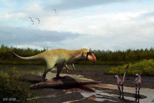 Uma ilustração do dinossauro