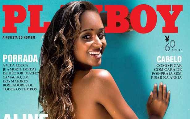 Aline Prado foi a Globeleza durante seis anos. Foto: Playboy/Divulgação