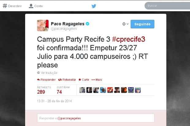 (twitter.com/pacoragageles (Reprodução))