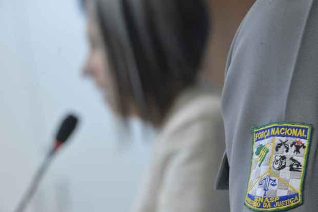 A secretária nacional de Segurança Pública do Ministério da Justiça, Regina Miki, divulga o Boletim 2013 da Força Nacional. Foto: Marcello Casal/Agência Brasil