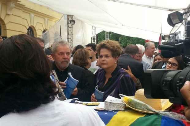 Dilma e Lula já estão no Palácio do Campo das Princesas. Foto: Larissa Rodrigues/DP/DA Press