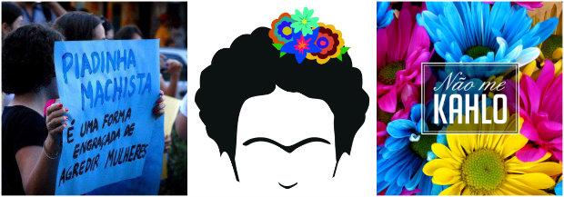 O coletivo Não Me Kahlo deu início à campanha e assina coletivamente a publicação. Fotos: Reprodução da internet