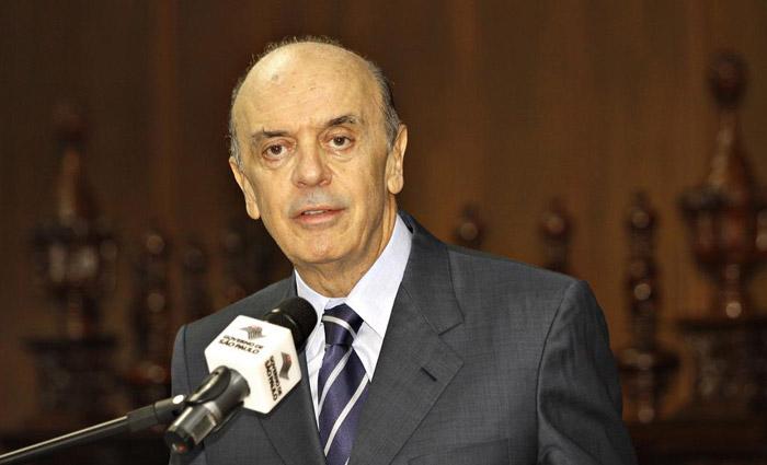 Serra, que ocupava o cargo de ministro das Relações Exteriores pediu demissão na última quarta-feira. Foto: Cris Castelo Branco/Governo do Estado de SP