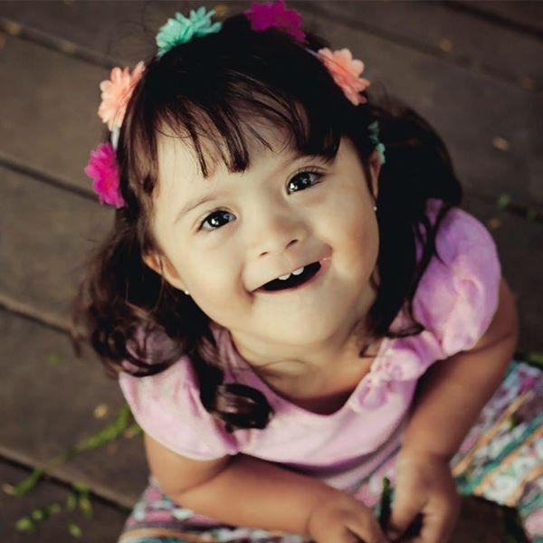 Letícia começou a estimulação no primeiro mês de vida. Foto: Arquivo Pessoal (Foto: Arquivo Pessoal)