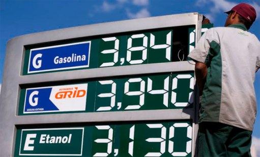O governo admite que os sucessivos reajustes na gasolina podem pressionar a inflação de 2018. Foto: Marcelo Camargo/Agência Brasil/Arquivo