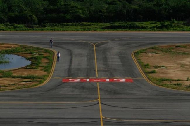 A pista de pouso do  Aeroporto Santa Magalhães, em Serra Talhada, já funciona para voos privados. Foto: Rafael Martins/DP
