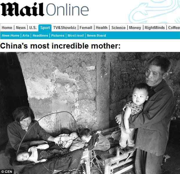 O casal Xiaoying cuida de bebês encontrados no lixo. Eles foram entregues a amigos e familiares (Daily Mail/Reprodução)
