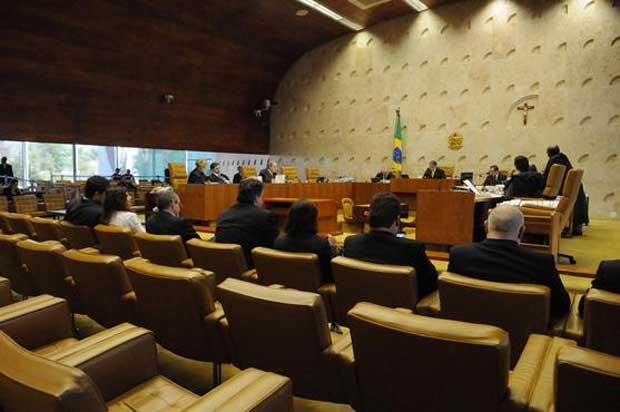 Julgamento do mensalão, no Supremo: decisão beneficiaria 11 condenados em regime semiaberto (Carlos Moura/CB/D.A Press)