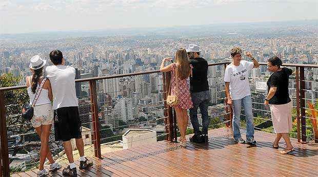 Mirante do Mangabeiras será um dos pontos turísticos visitados (Cristina Horta/EM/D.A Press)