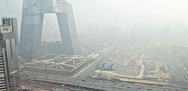 Poluição paira sobre Pequim: devido à enorme população e ao forte crescimento econômico, a China é o país com a maior pegada ecológica