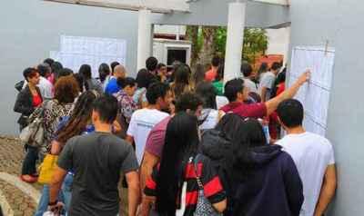 Segundo o Inep, 196,8 mil estudantes concluintes, matriculados em 904 instituições de educação superior, prestaram as provas (Janine Moraes/CB DA Press)