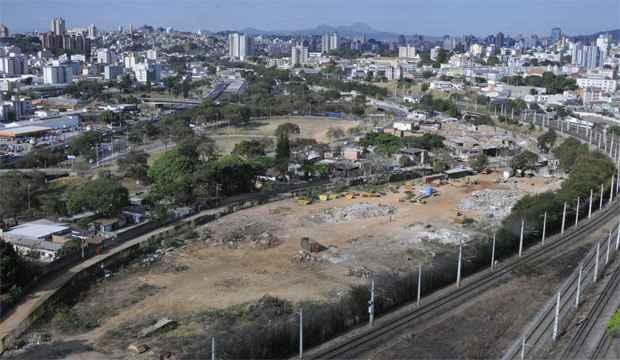 Área que foi declarada de utilidade pública para desapropriação  (Maria Tereza Correia/EM/D.A Press)