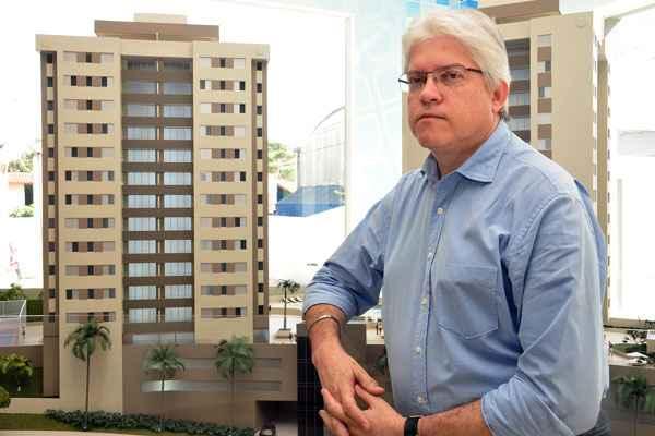 Entre os imóveis mais valorizados, o diretor da Maio Empreendimentos, Jânio Valeriano, aponta residenciais de dois e três quartos com conceito de lazer (Eduardo de Almeida - RA Stúdio)