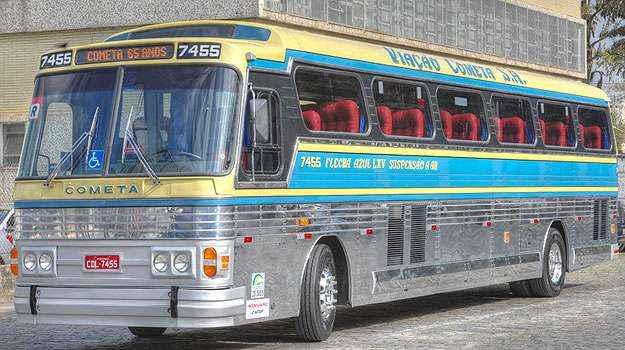 Pintura dos 70 está de volta para viagens no Sudeste e Sul do país (Viação Cometa/Divulgação)