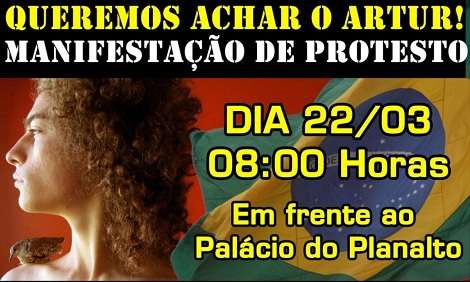 Divulgação via Facebook do protesto 'Queremos achar o Artur' (Facebook)
