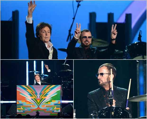 Ringo Starr e Paul McCartney: sem músicas dos Beatles (Kevork Djansezian/Getty Images/AFP)