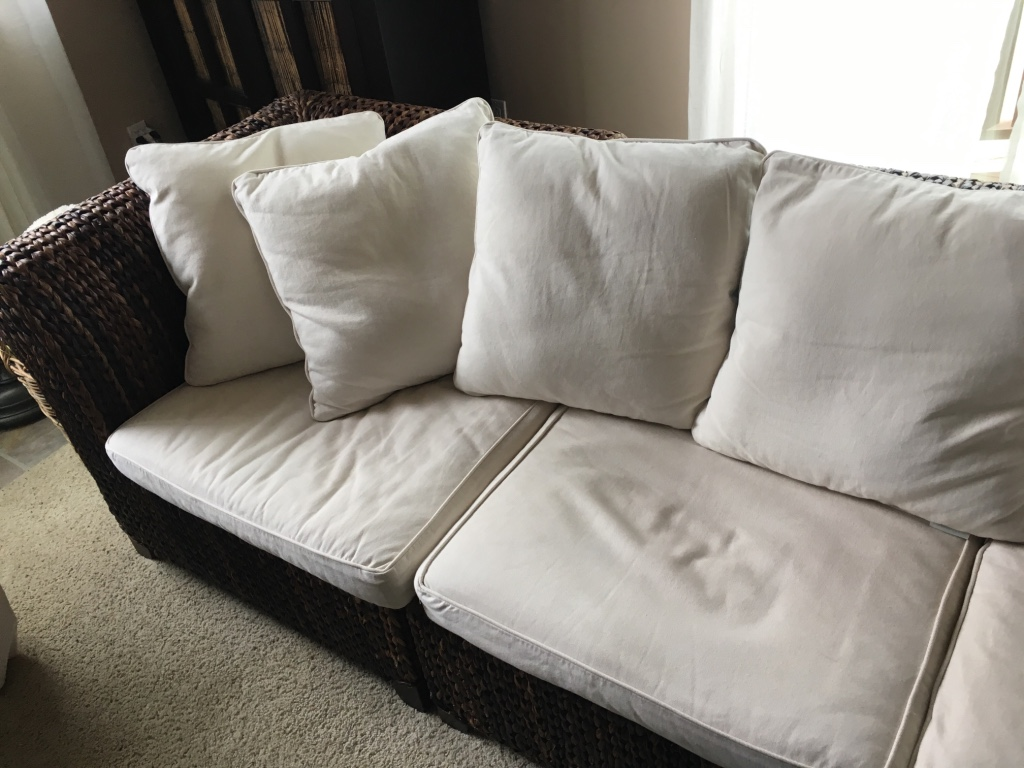 pottery barn seagrass chair covers for sale in kzn letgo roll arm sofa encinitas ca