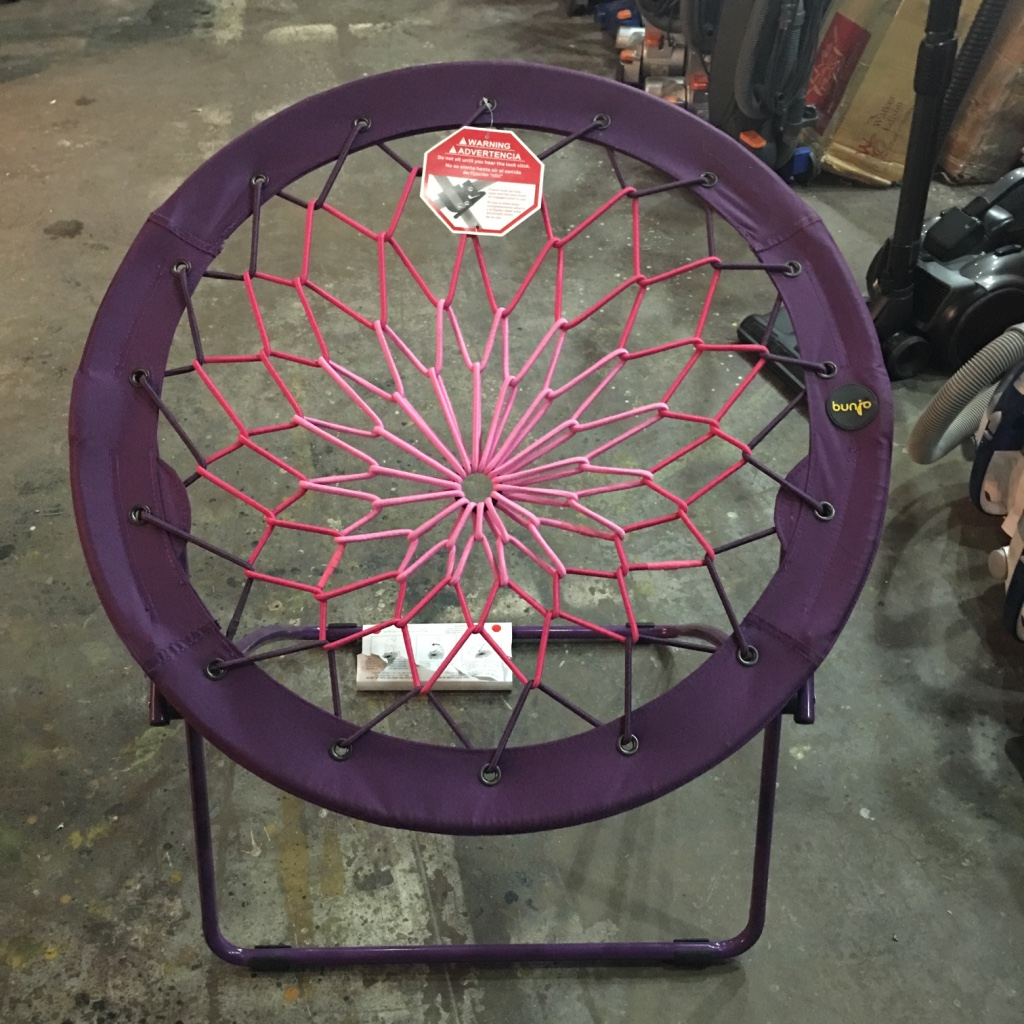 purple bungee chair wingback leather letgo 32 quot in aldine tx