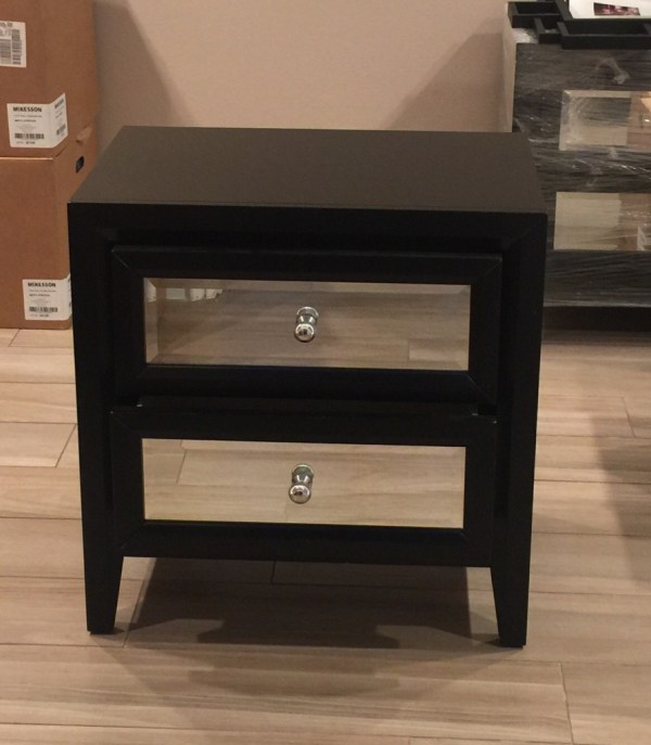 Letgo - Black Mirrored Nightstand Set 2 In Rancho Park Ca