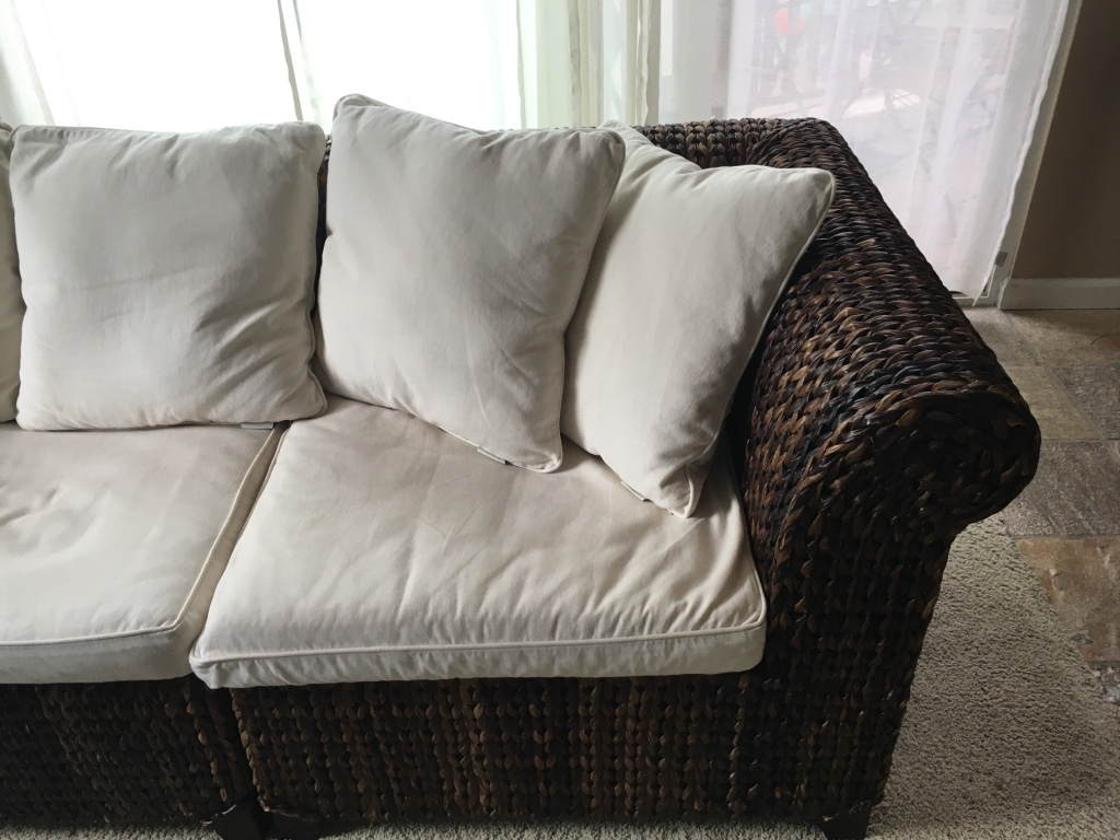 pottery barn seagrass chair antique chinese dragon letgo roll arm sofa in encinitas ca