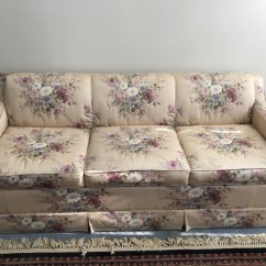 Green Floral Sofa Leather On Credit Letgo Beige Red And 3 Pa In Bergenline Nj