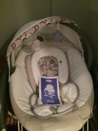 letgo - baby's white grey and pink swing in Bethel Park, PA