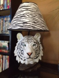 letgo - Beautiful white tiger lamp and s... in Lancaster, NY