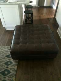 letgo - Crate And Barrel Leather Ottom... in Warrenville, IL