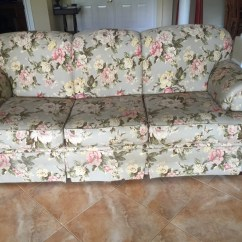 Green Floral Sofa Lee Slipcovered Reviews Letgo Gray And Pink In Royal Plm Beach Fl
