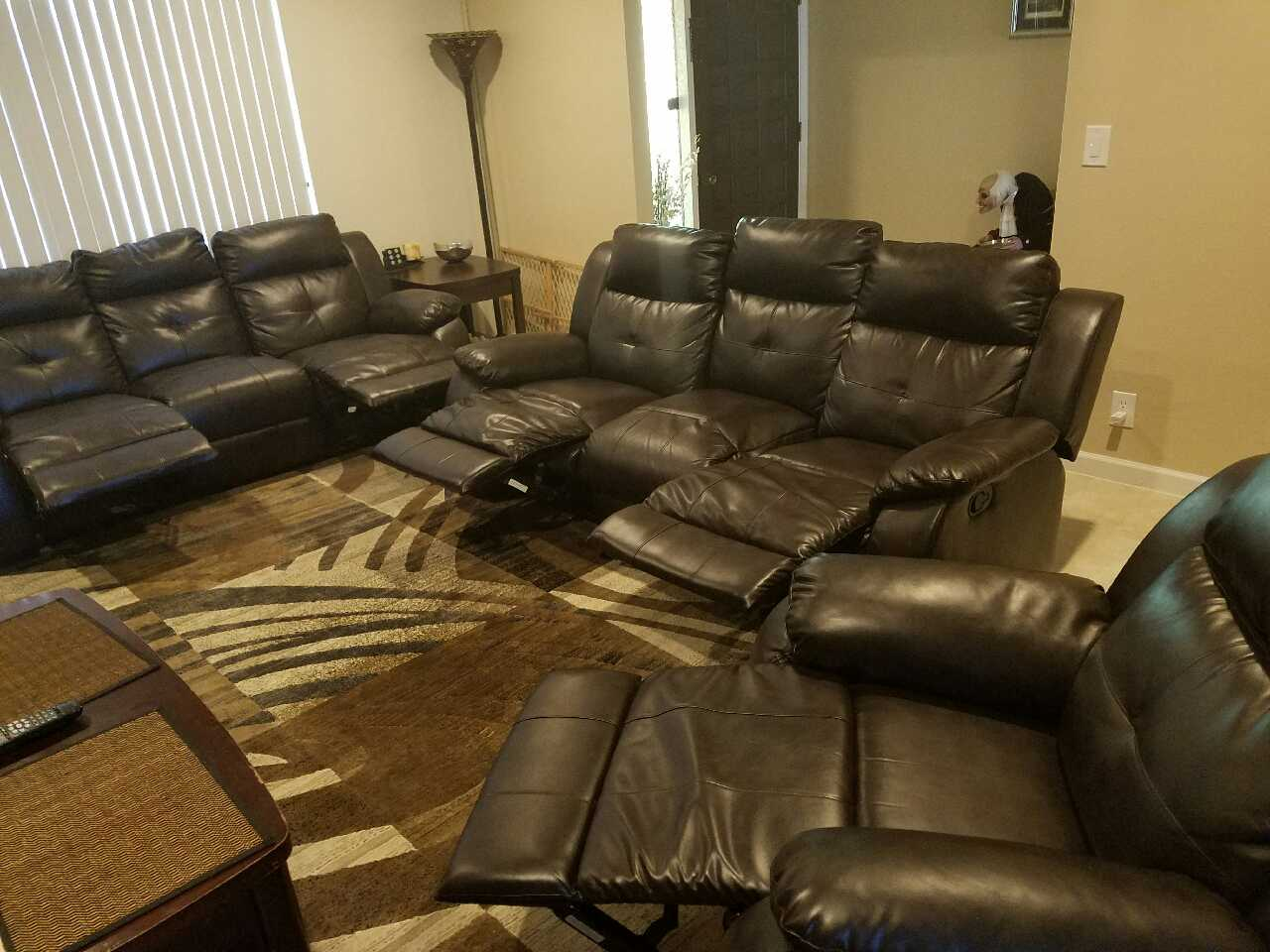 ryker reclining sofa and loveseat 2 piece set metro sectional big lots letgo 3 in fort lowell az