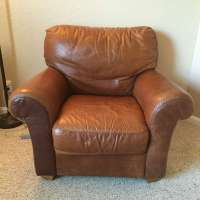 letgo - Big Comfy Distressed Leathe... in Highland Beach, FL