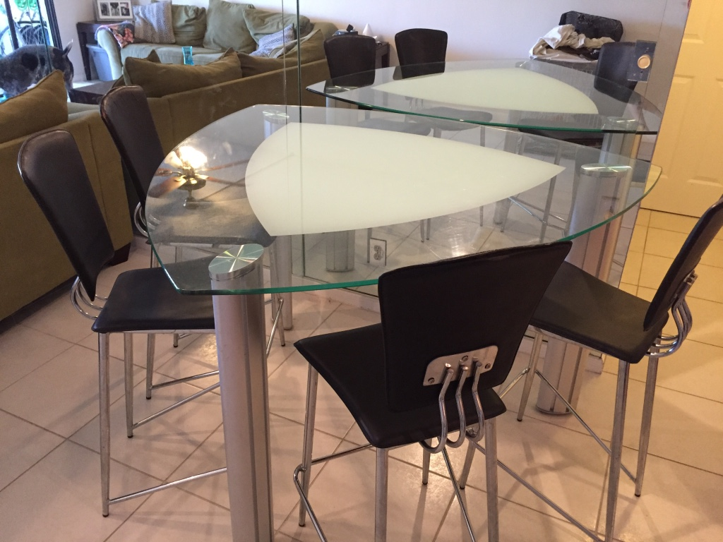 chair cba steel director covers nz letgo tall glass table and 4 chairs in delray beach fl