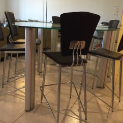 Chair Cba Steel Bedroom For Toddler Letgo Tall Glass Table And 4 Chairs In Delray Beach Fl
