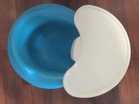 letgo - Blue Bumbo baby seat with whit... in Grand Ledge, MI