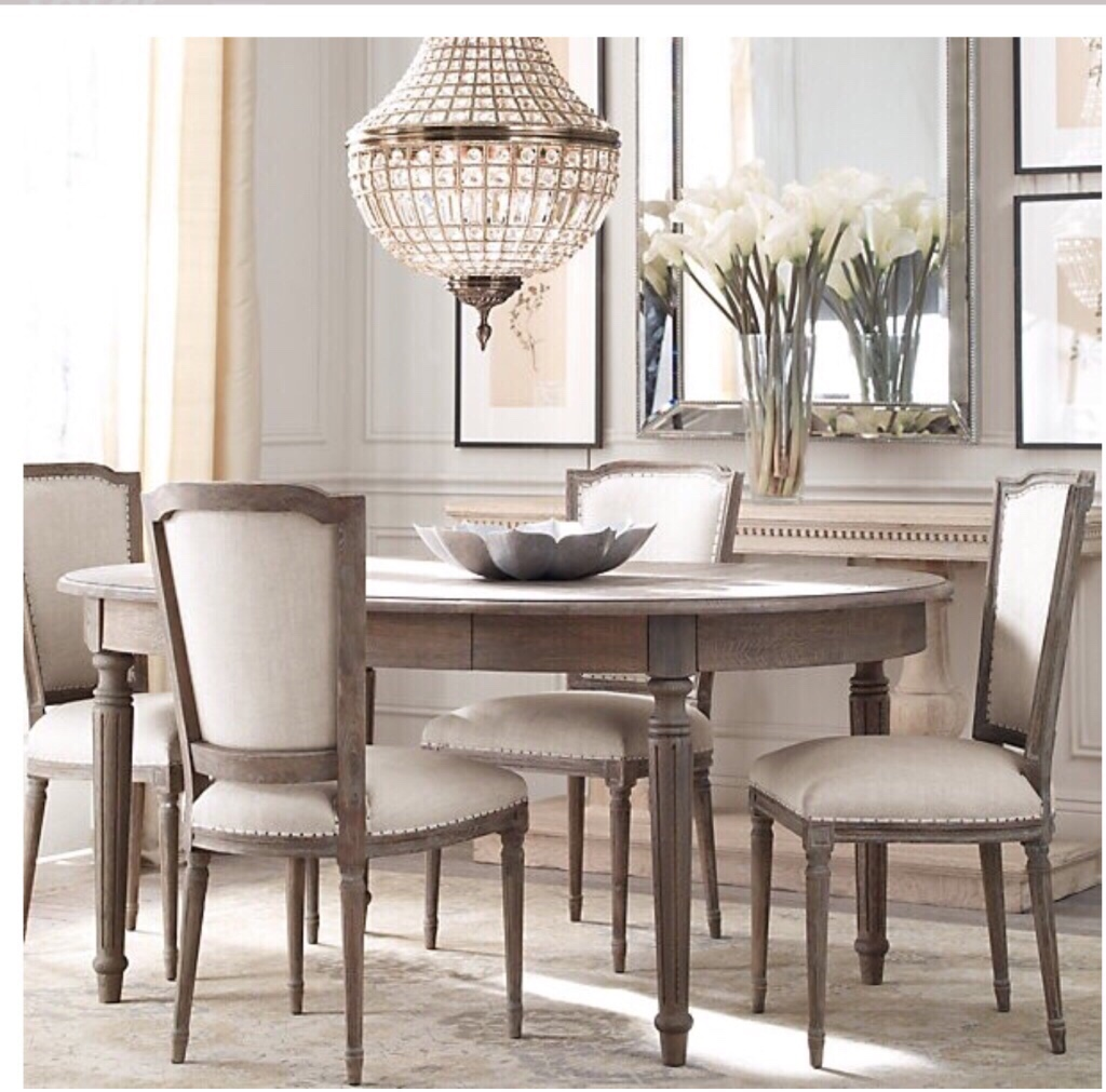 Restoration Hardware Round Dining Room Table