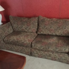 Green Floral Sofa Broyhill Red Leather Letgo Gray And Fabric 2 In Dallas Tx