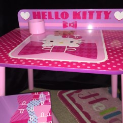 Hello Kitty Desk Chair High Table Chairs Letgo White Pink Cha In North Highlands Ca