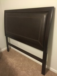 letgo - Dark brown wood/leather headboard in Memphis, TN