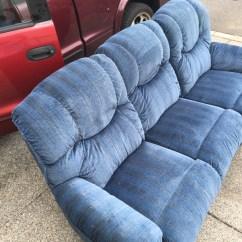 Lazy Boy Dual Reclining Sofa Velvet Grey Letgo Couch In Vancouver Wa
